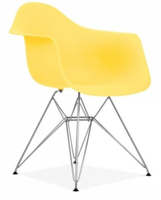 Eames Inspired DAR Chair Lemon Seat Front Angle