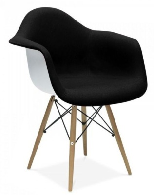 Eames DAW Inspired Chair With And Uupholstered Seat Front Angle