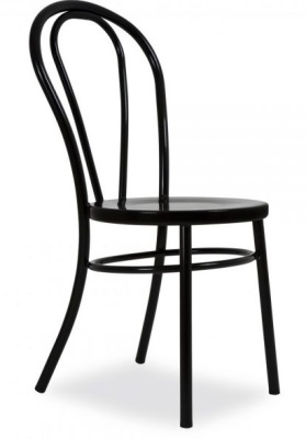 Thonet Style Metal Nbentwood Chair Side View