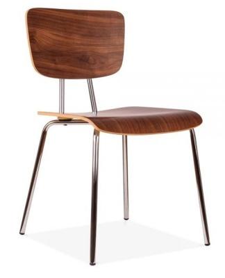 Desiogner Costas Walnut Chair Front Angle