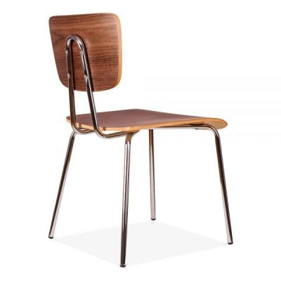Costas Designer Walnut Chair Rear Angle