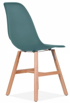 Eames Inspired DSW Chair With Oxford Legs And A Tealo Seat Rear Angle