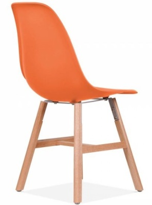 Eames Inspired DSW Chair With An Oprange Seat And Oxford Legs Rear Angle
