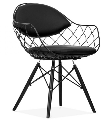 Pais Chair Black Front Angle View