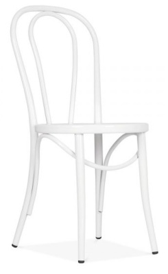 Thonet White Rerto Bentwood Chair Front Angle