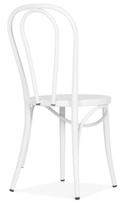 Thonet Retro Bentwood Chair In White Rear Angle