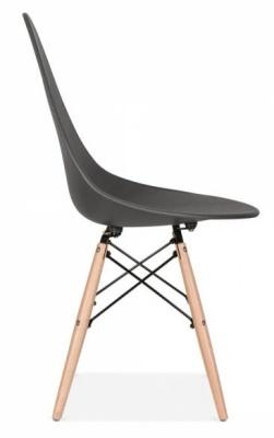 Scalena Designer Chair In Dark Grey Side View