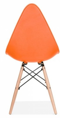 Scalena Designer Chair With An Orange Seat Rear View