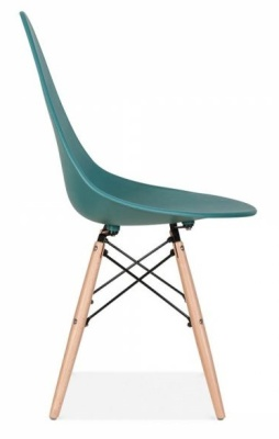 Scalena Designer Chair With A Teal Seat Side View