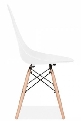 Scalena Designer Chair With A White Seat Sid View