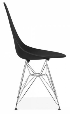 Cadiz Designer Poly Chair With A Black Seae Side View
