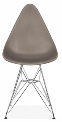 Cadiz Designer Chair Wit A Warm Grey Seat