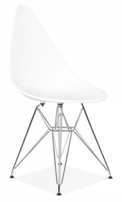 Cadiz Designer Chair With A White Seat Front Angle