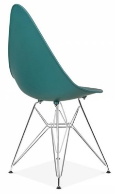 Cadiz Designer Chair With A Teal Seat Back Angle View