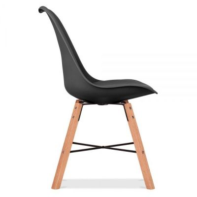 Crosstown Chair With A Black Seat Side View