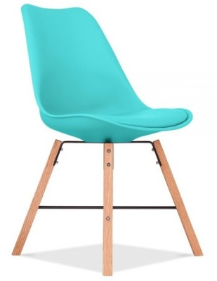 Crosstwon Chair With A Turquoise Seat Fron Angle View