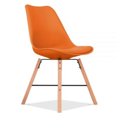 Crosstown Chair Orange Seat Front Angle