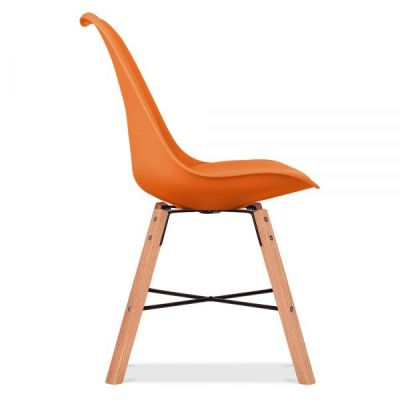Crosstwon Chair Orange Seat Side View