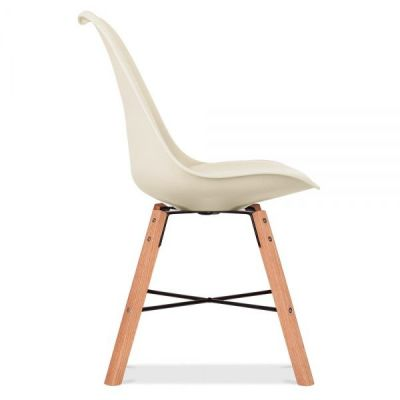 Crosstown Chair With A Cream Seat Side Angle