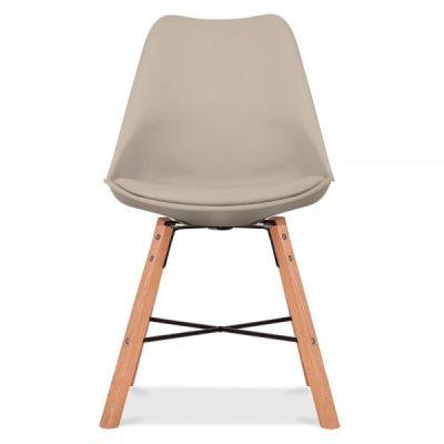 Crosstown Chair Wit A Warm Beige Seat Front Shot