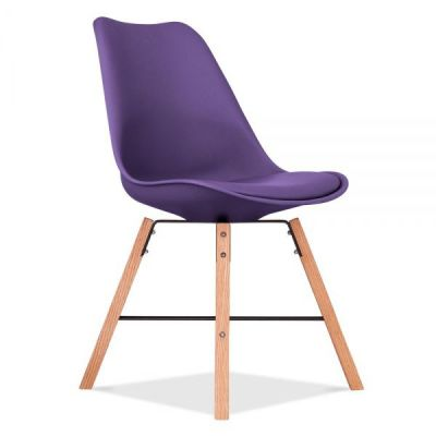 Crosstown Chair With A Purple Seat Front Angle