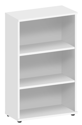 Abacus 1200mm High Bookcase In White