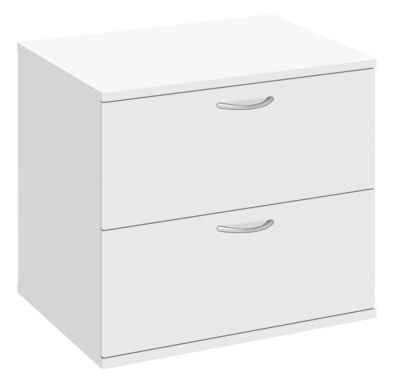 Abacus Two Drawer Side Filer In White
