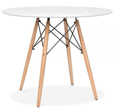 Eames DSW Table With Natural Finish Legs
