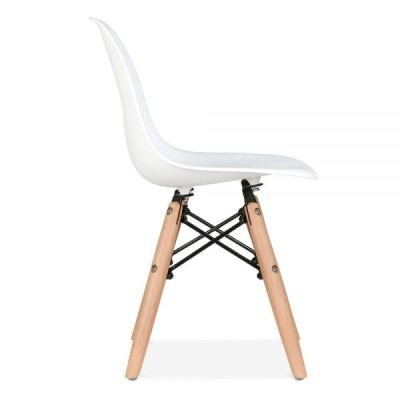 Eames Inspired Junior Dsw Chair Side Angle