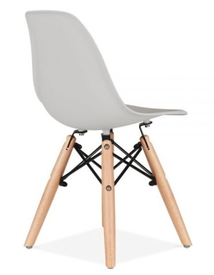 Eames Inspired Junior Dsw Chair With A Greay Seat Rear Angle