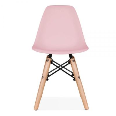Eames Inspired Junior Dsw Chair With A Pink Seat Front Angle