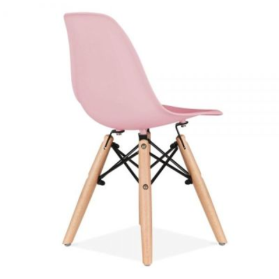 Eames Inspired DSW Chair With A Pink Seat Rear Angle