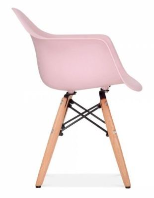 Eames Inspired Junior DAW Chair With A Pink Seat Side View