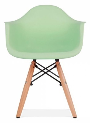 Eames Inspired Junior DAW Chair With A Peppermint Seat Front View
