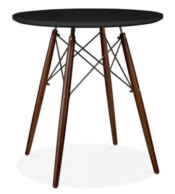 Eames Inspired DSW Table With A Black Top And Walnut Legs