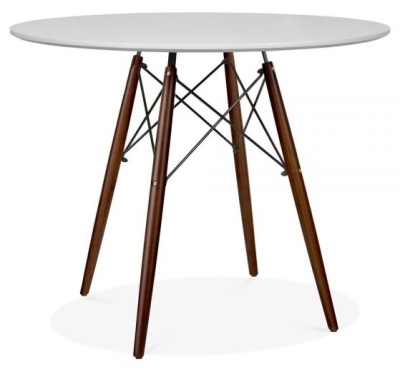 Eames Inspired DSW Table With A Grey Top And Walnut Legs