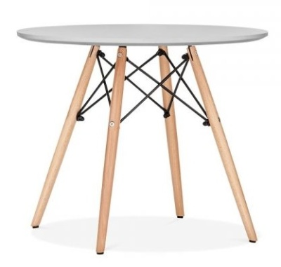 Eames Inspired Junior Dsw Table With A Grey Top 1