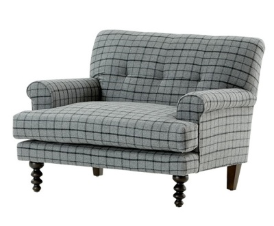Mongtrose Designer Armchair Grey Check