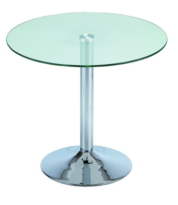 Crystal Round Glass Table