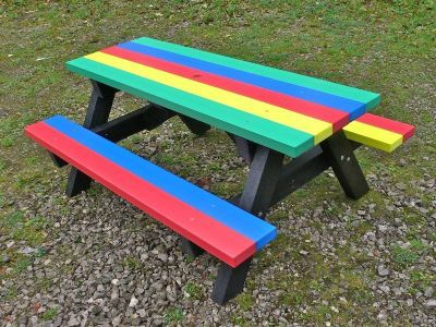 Westpoint Multi Coloutred Childrens Picnic Table 1