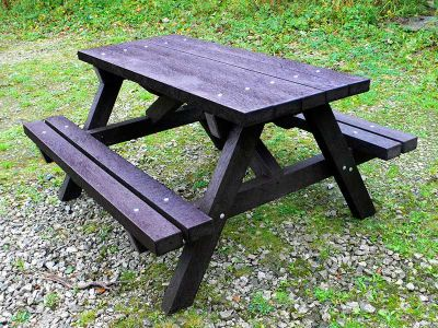 Westpoint Chunky Picnic Table Black