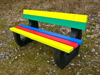 Westpoint Multi Coloured Outdoor Bench