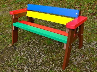 Castlepopint Childrens Multi Coloured Bench Hwithb Arms