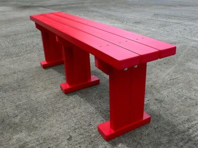 Westpoint Coloured Bench Without Back In Red