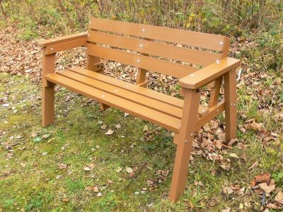 Westpint Windsor Three Seater Bench Oak Colour