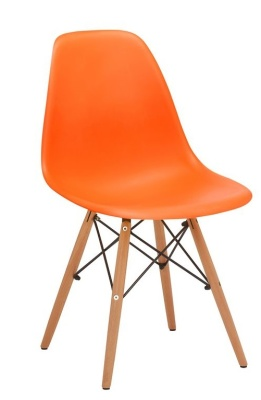 Eames Inspired DSW Chair Orange V4