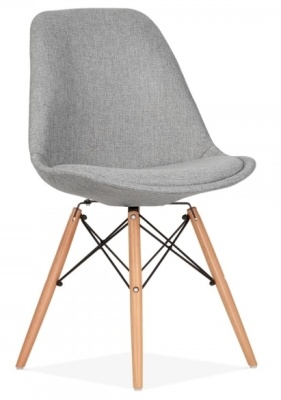 Eames Inspired DSW Chair Grey Upholstery