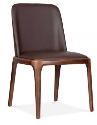 Luxo Leather Dining Chair Front Angle