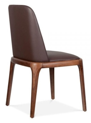 Luxo Leathert Gdining Chair Rear Angle
