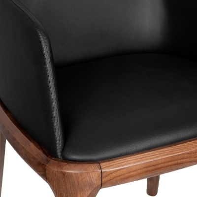 Luxo Black Leather Armchair Detail Kshot